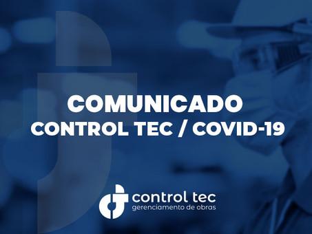 Comunicado Control Tec COVID19