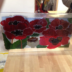 Fused Glass poppies