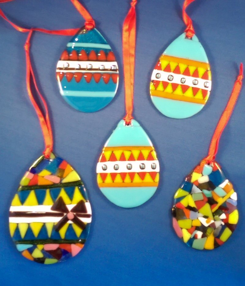 Fused Glass Easter Eggs 1