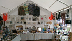 Our shop in a tent