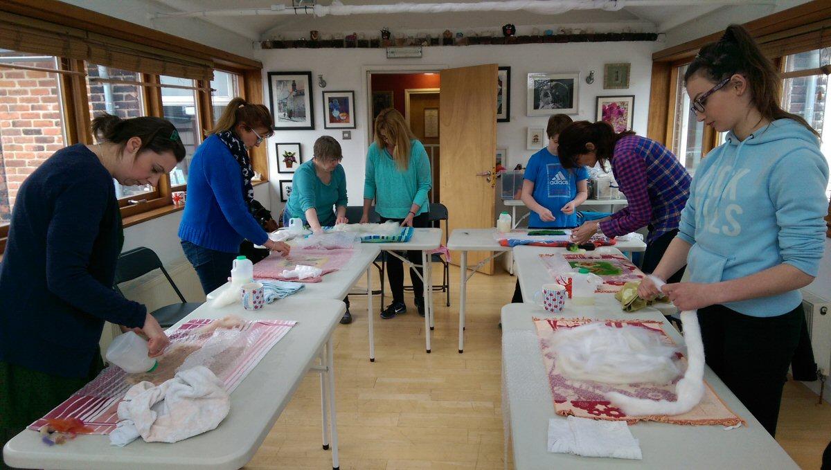 Felting workshop - the start 12.03.2016