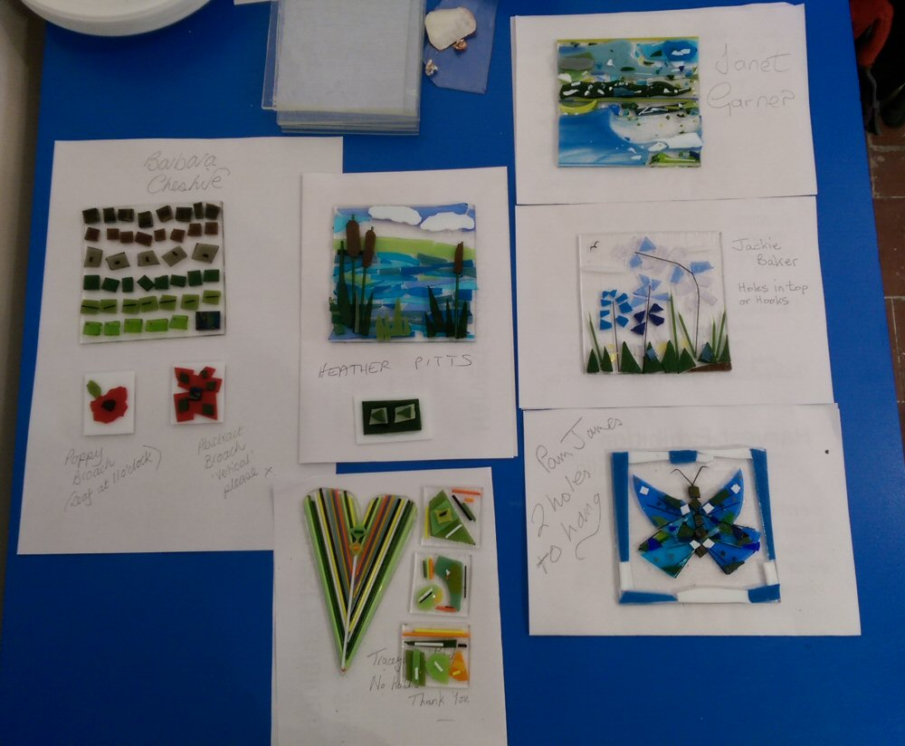 Fused Glass Taster - students work