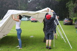 Putting up tent in the rain 2