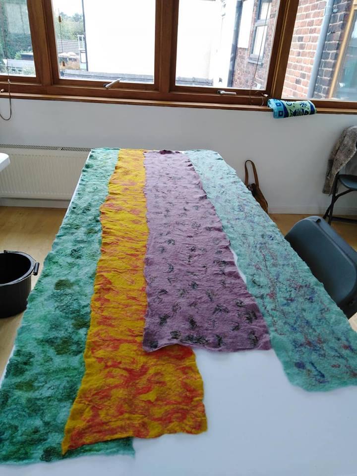 Finished scarves