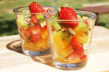 Verrines fruits frais traiteur miremont