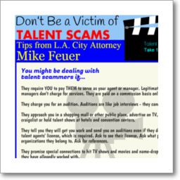 thumbnail graphic about how to avoid being a victim of a Hollywood Talent Scam