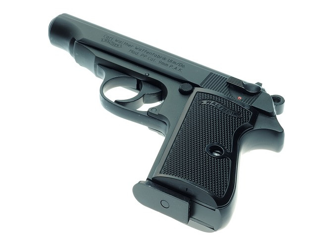 stock photo of a 9 millimeter gun