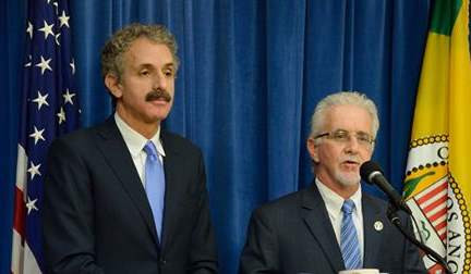 Los Angeles City Attorney Mike Feuer and Los Angeles Councilmember Paul Krekorian