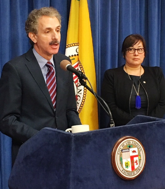 City Attorney Mike Feuer and Neighborhood Prosecutor Gabrielle Porter Thomas discuss our latest work on homeless patient dumping and the $450,000 settlement from Good Samaritan Hospital