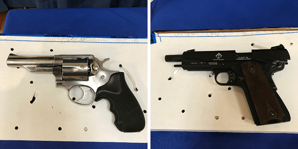 unlocked handguns recovered from home in the Valley