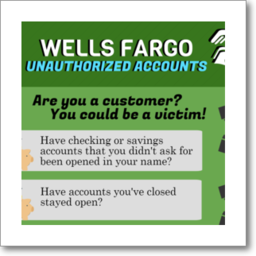 Thumbnail graphic about Wells Fargo's unauthorized accounts, in English