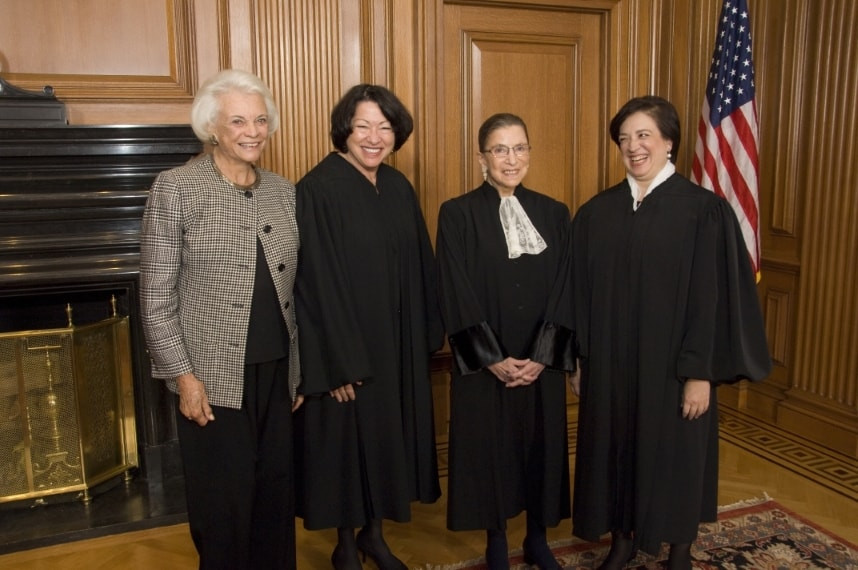 Justice Sandra O'Connor, Sonia Sotomayor, Ruth Bader Ginsburg and Elena Kagan