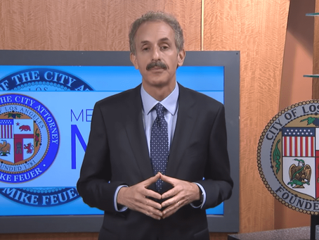 CITY ATTORNEY MIKE FEUER'S WEEKLY MESSAGE ADDRESSES CHILDREN EXPOSED TO VIOLENCE