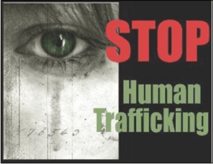 Graphic that says stop human trafficking