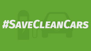 Graphic that says #SaveCleanCars
