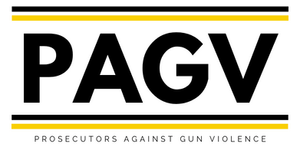 Logo for the nonprofit group, Prosecutors Against Gun Violence, or PAGV.