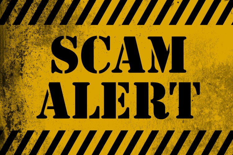 Graphic that says Scam Alert.