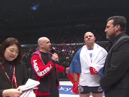 Bellator 237:  Fedor Emelianenko nocauteia Quinton Jackson no último evento do ano de 2019