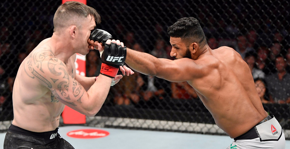 Dhiego Lima (15-7 MMA, 4-5 UFC) vence Luke Jumeau (13-5 MMA, 2-2 UFC) por decisão dividida (28-29, 29-28, 29-28)