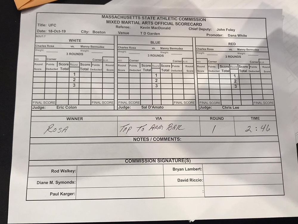 Charles Rosa venceu Manny Bermudez por finalização no 1R