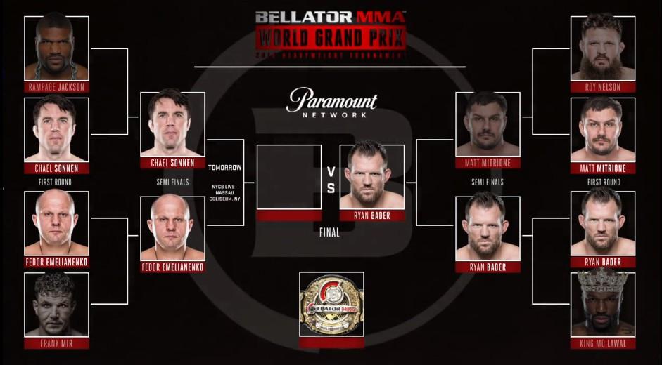 Matt Mitrione vs. Ryan Bader (vencedor; decisão unânime)