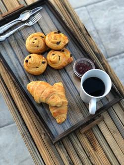 Pains aux Raisins and Butter Croissants
