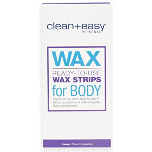 CLEAN EASY BODY WAX STRIPS 12 UNID
