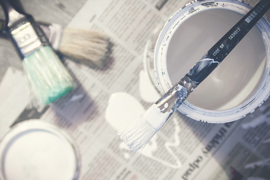 Home maintenance projects - fixing cracks and paint imperfections