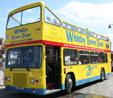 Catch the Whitby tour bus outside our Whitby holiday home @ Caedmons Prospect