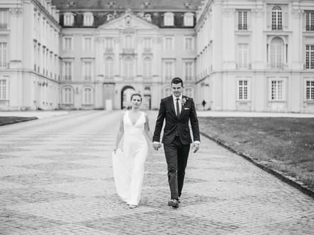 Hochzeits-Paarshooting Schloss Brühl