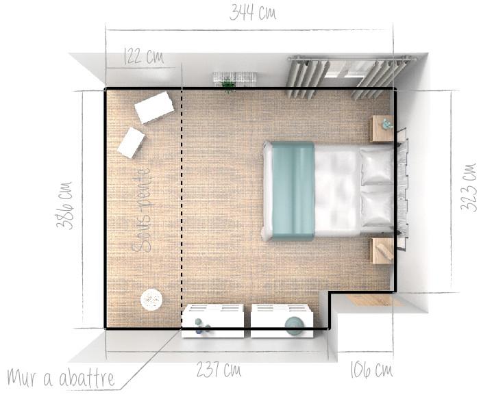 design | Chambre de 13m2
