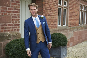 Lightweight mohair royal blue lounge suit