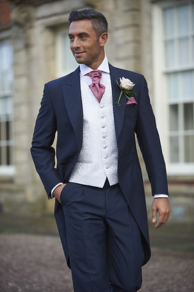 Navy tailcoat