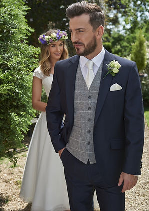 Lightweight mohair navy blue lounge suit
