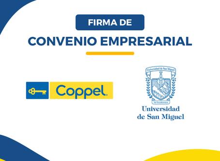 Ampliación de Alcances en Convenio de colaboración Empresarial con COPPEL S.A de C.V.