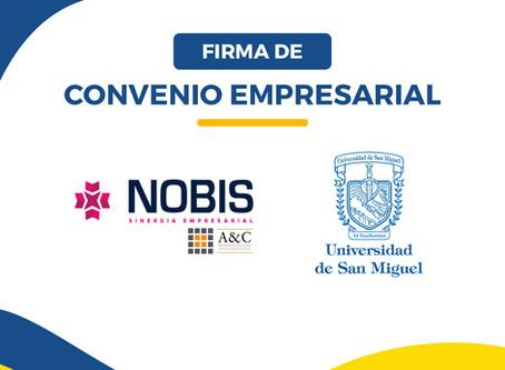 USM FIRMA CONVENIO EMPRESARIAL CON NOBIS