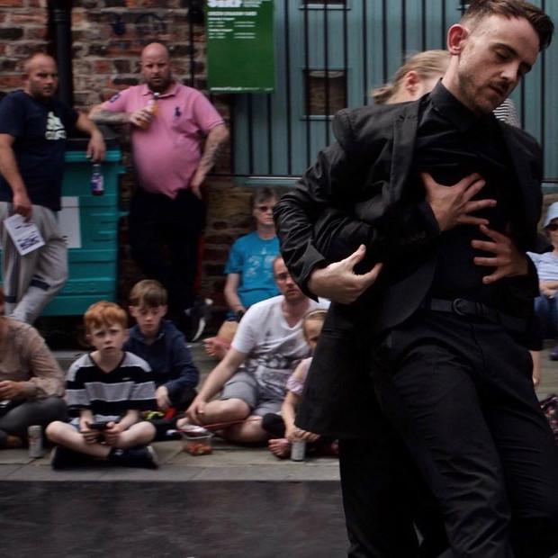 L'uomo at Stockton International Riverside Festival. 2019