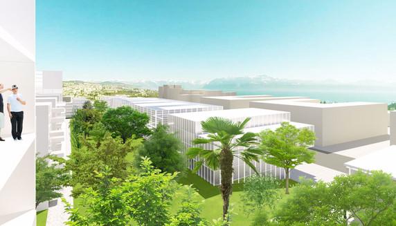15.09.2016 YTAU a rendu sa propostion pour l'aménagement d'un campus orienté vers la filière Santé à Chavannes-Près-Renens dans le prolongement de l'EPFL à Lausanne. Découvrez le projet !