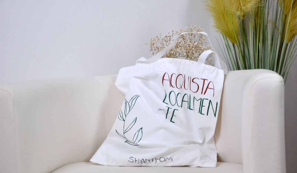 OUR HAND PAINTED TOTE BAGS