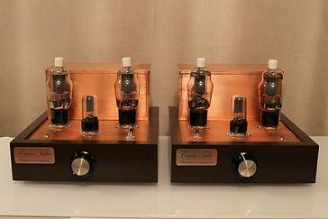 Tube Vacuum Lamps Amplifers dual monoblocks auto bias 35W