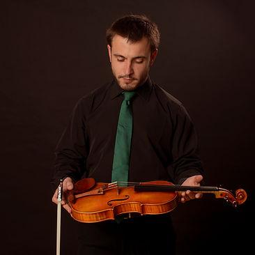 Davi García Rodríguez, violinista gallego de Bambú Ensemble, es violnista de la BOS