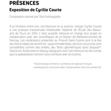 Livret PRÉSENCES p.2