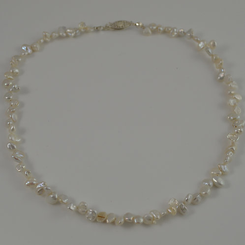 White Nugget pearl necklace