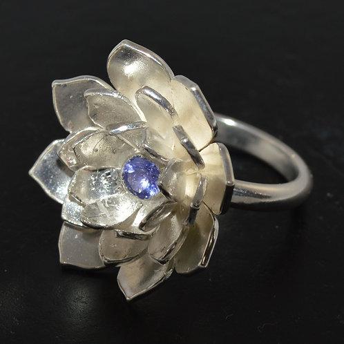 Lotus tanzanite ring