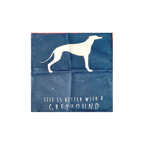 'Life is better with a Greyhound' Cushion Cover
