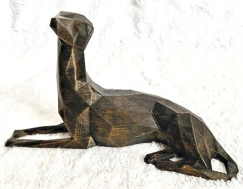 Medium 3D Low Poly Greyhound Figurine