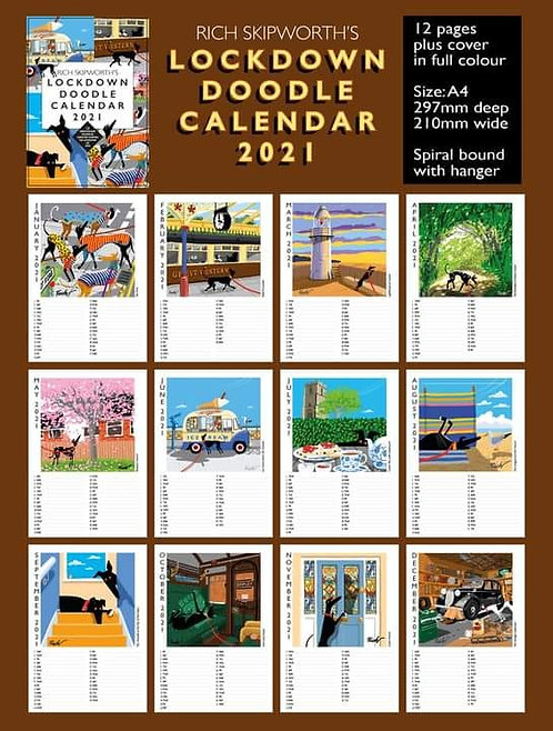 Richard Skipworth's Lockdown Doodle Calendar 2021