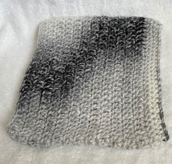 Marblied Grey Knitted Snood