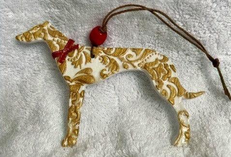 Greyhound Year-round Ornament
