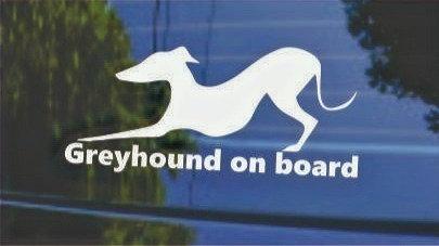 Greyhound on board decal